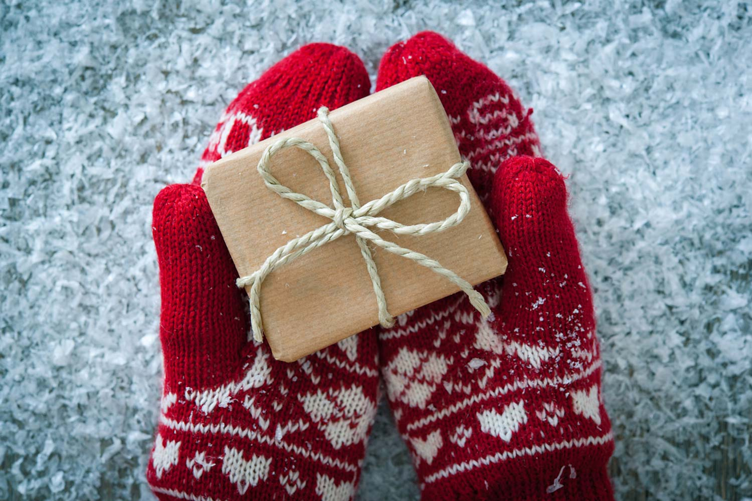 Christmas Mitts And A Gift