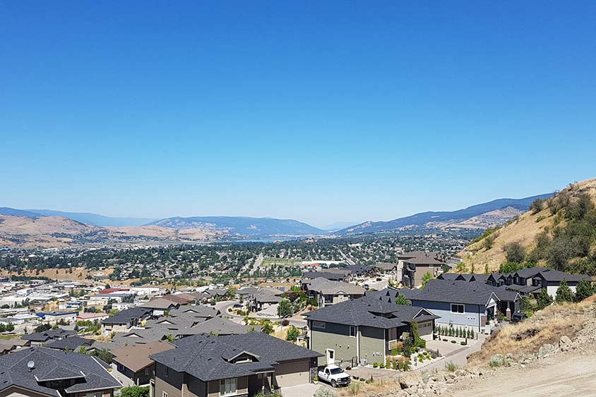 Vue in Vernon view of Vernon valley