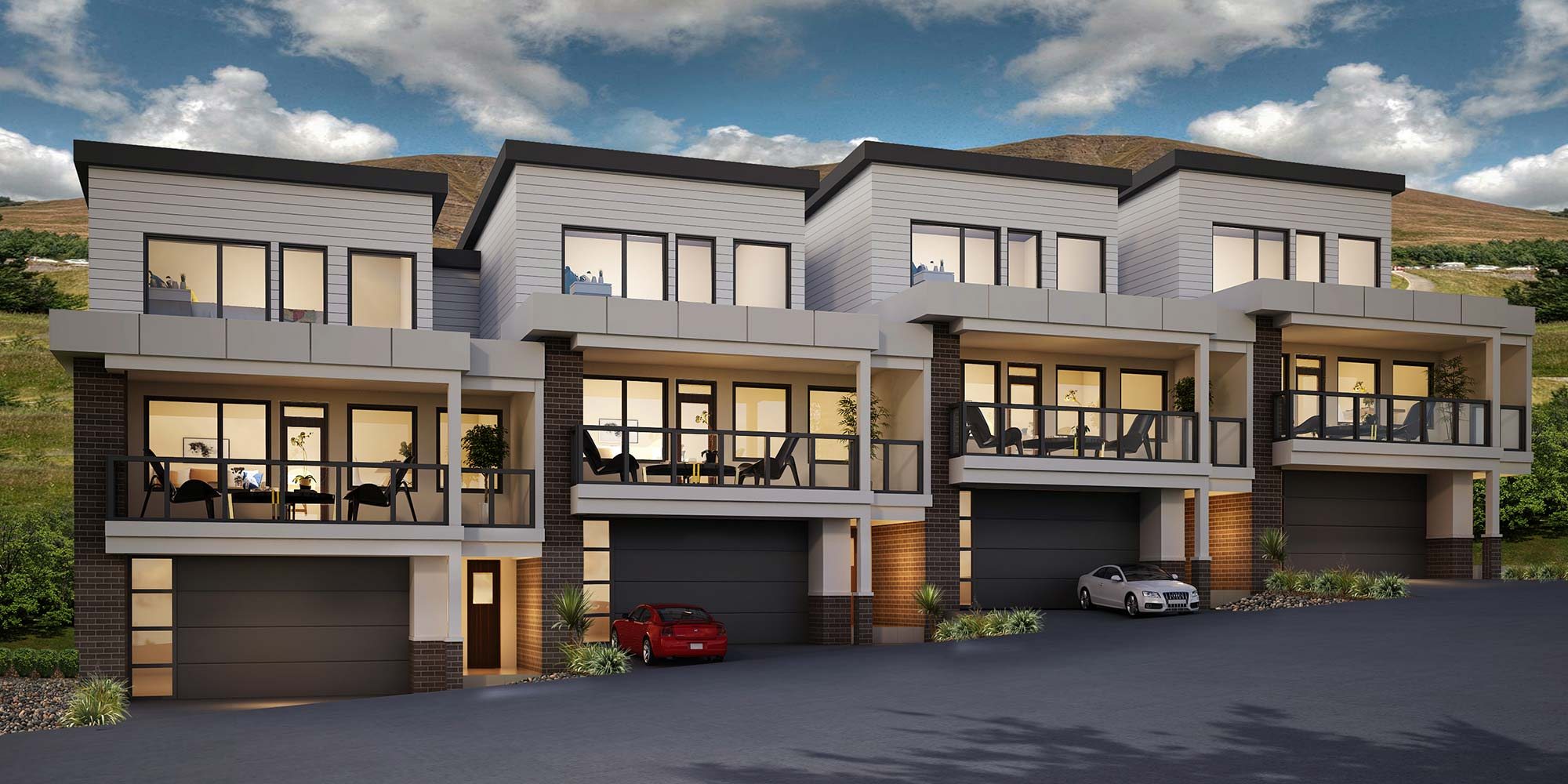 Infinity in Vernon - Ambrosia Townhome Rendering