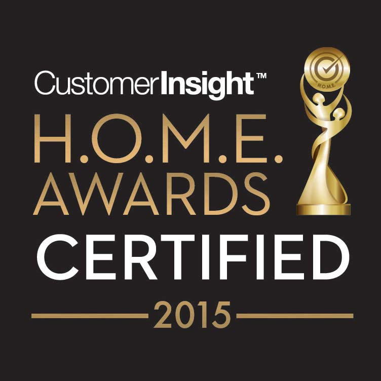 Customer Insight HOME Awards Certified 2015 - badge
