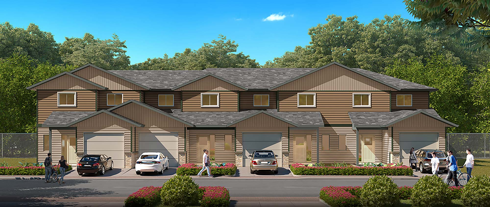 Vue in Vernon Townhome Rendering